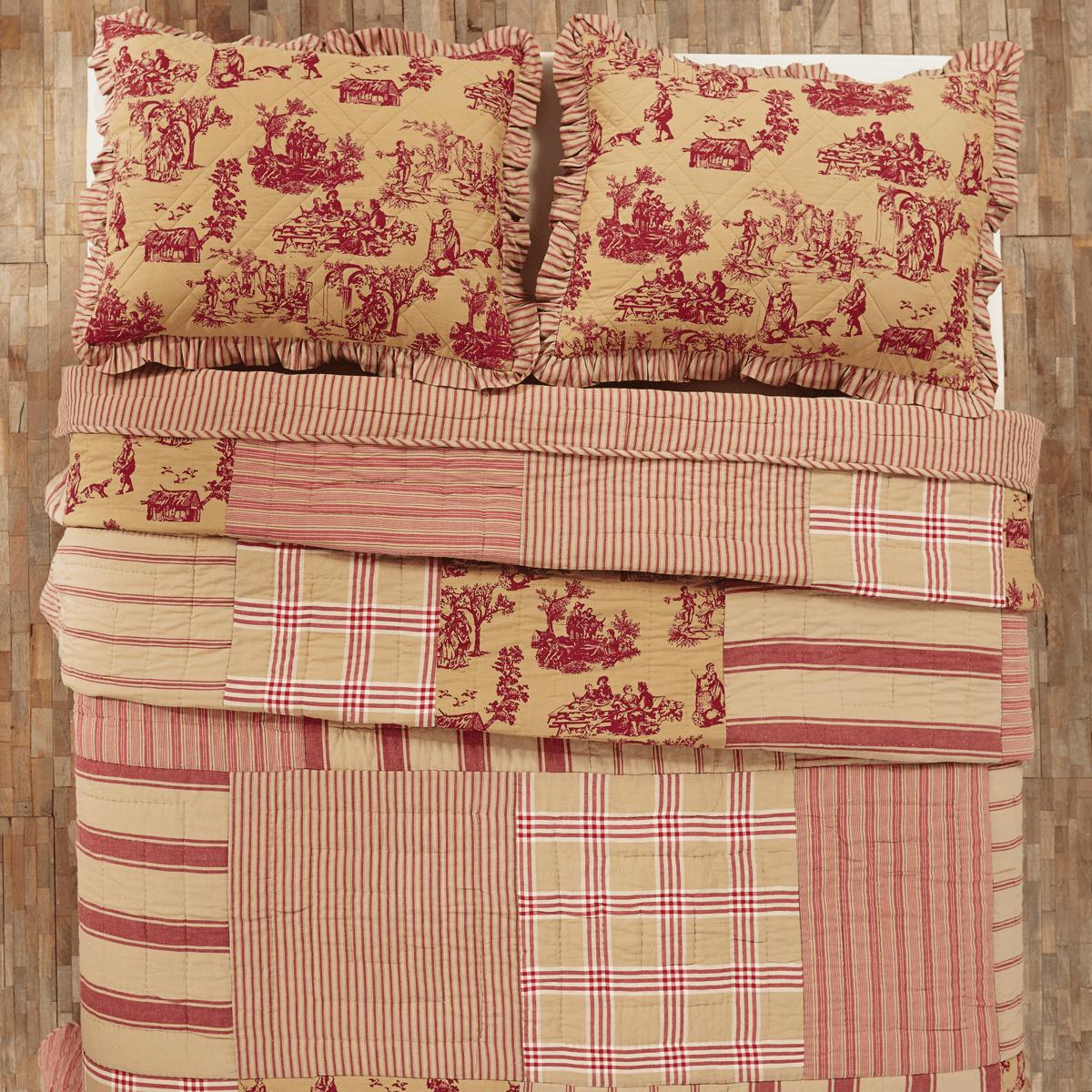 Elaine Rouge Twin Patchwork Quilt 86x68 - Walmart.com : patchwork quilt twin - Adamdwight.com