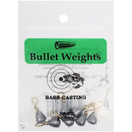 Bullet Weights® Bass Casting #10, 1/8 oz., 7