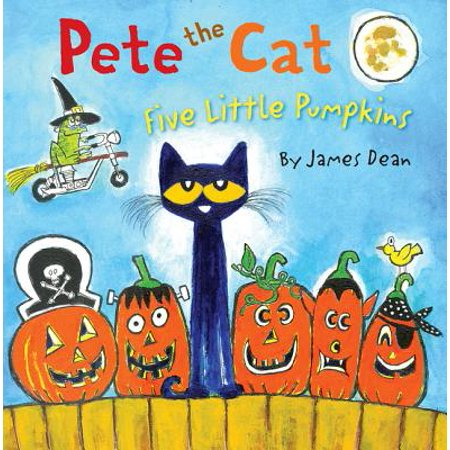 Pete the Cat: Five Little Pumpkins (Hardcover) (Halloween 5 Little Pumpkins)