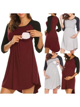 Pregnant Women Breast Feeding Tunic Maternity Nursing T Shirt Blouse Ladies Tops