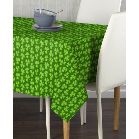 60x84 Fabric Tablecloth - Lucky Clovers Tablecloth 60