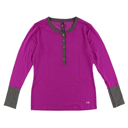 Under armour womens cold gear infrared henley shirt for Under armour shirts at walmart