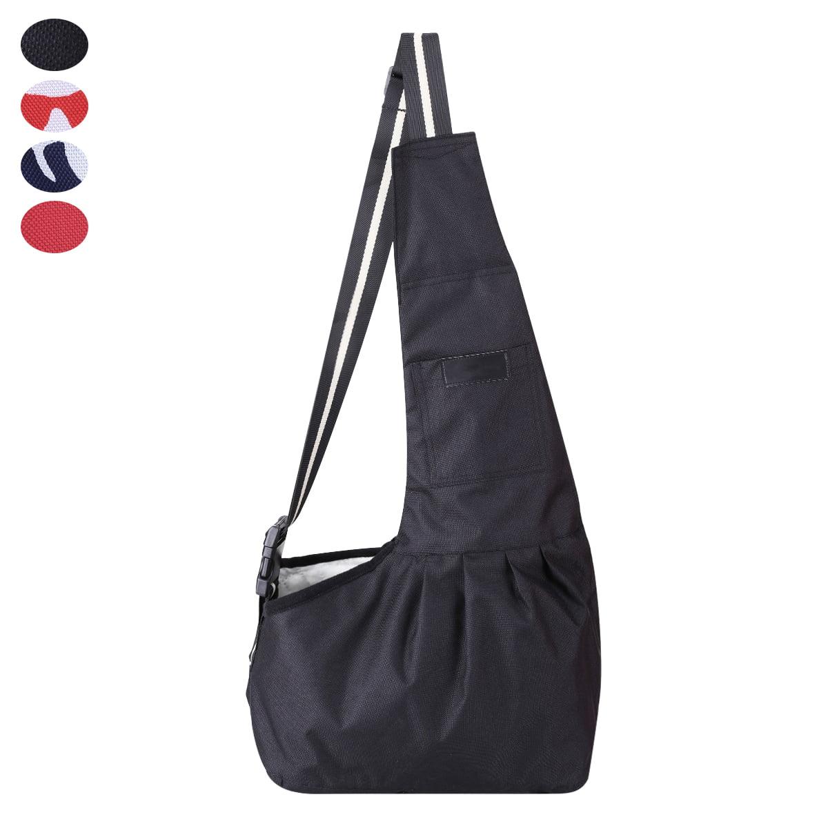 Docamor Pet & Dog Sling Carrier Adjustable Puppy Sling Bag Small Dogs Cats Outdoor Shoulder Carrier Bag Travel Pouch for Pets