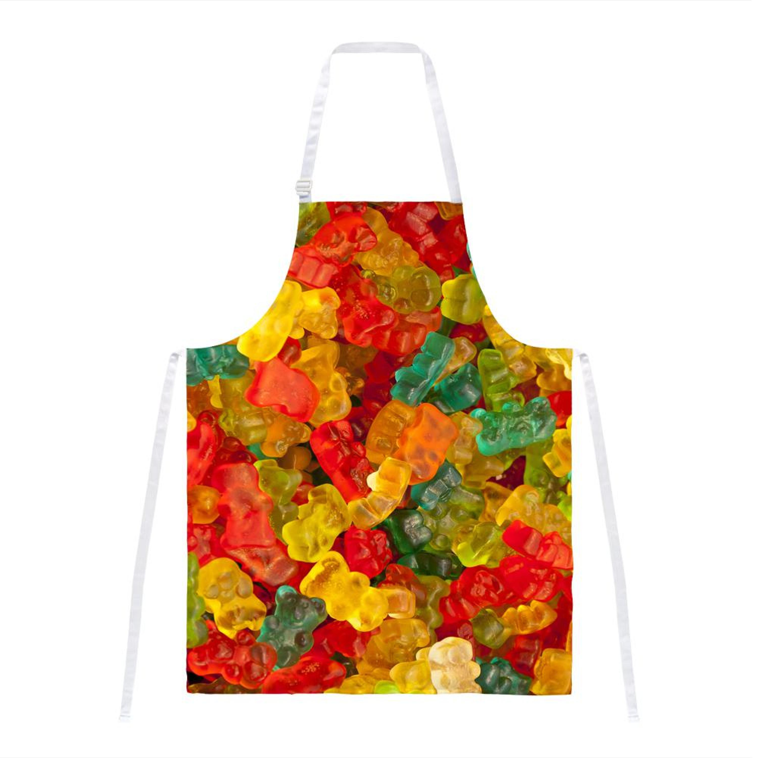Candy Gummy Bears All Over Apron by