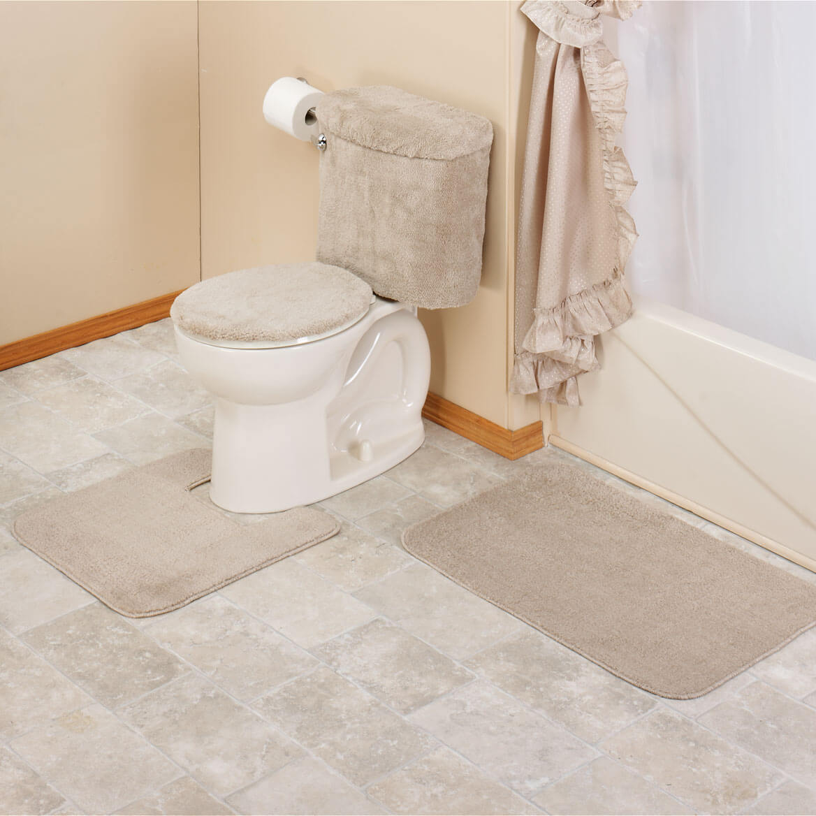 Piece Bath Rug Contour Lid Tank, 5 Piece Bathroom Rug Set