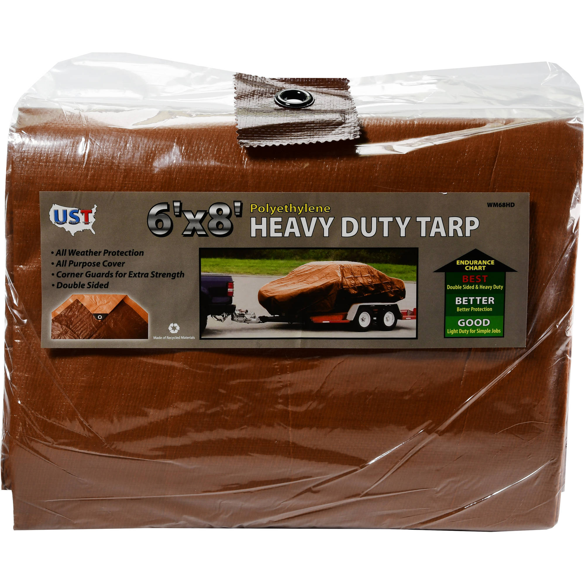 6' x 8' Heavy Duty Tan/Brown Tarp