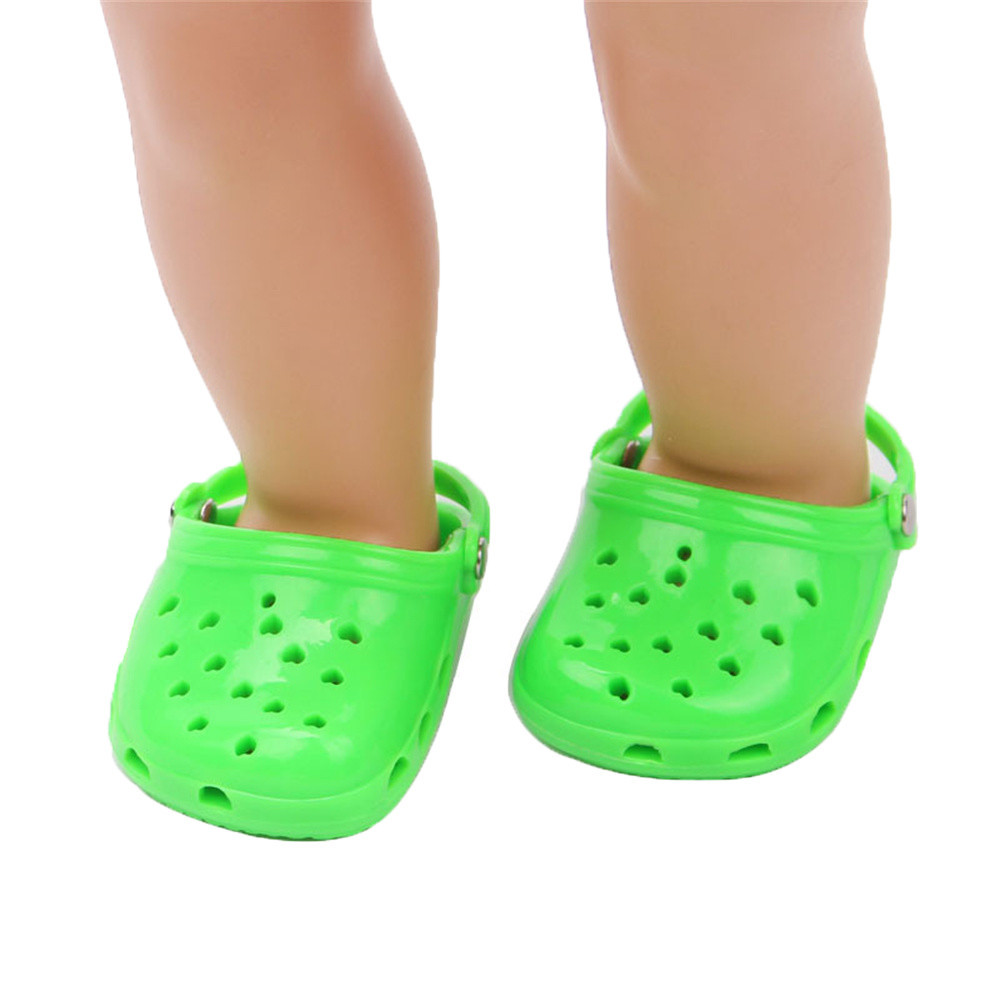 Doll Shoes Solid Slippers For 18 Inch Our Generation American Girl Doll