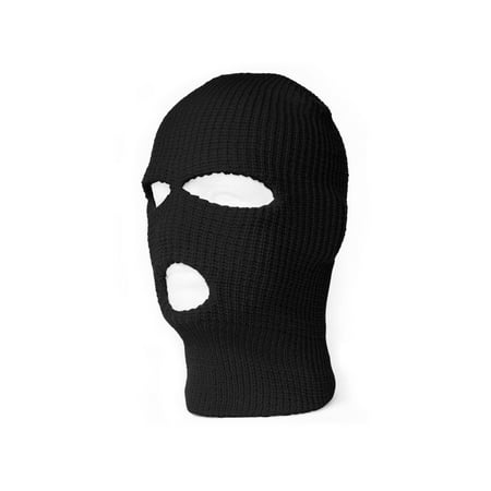 3 Hole Winter Ski Mask- Black - Walmart.com ee6c6ef5c2a