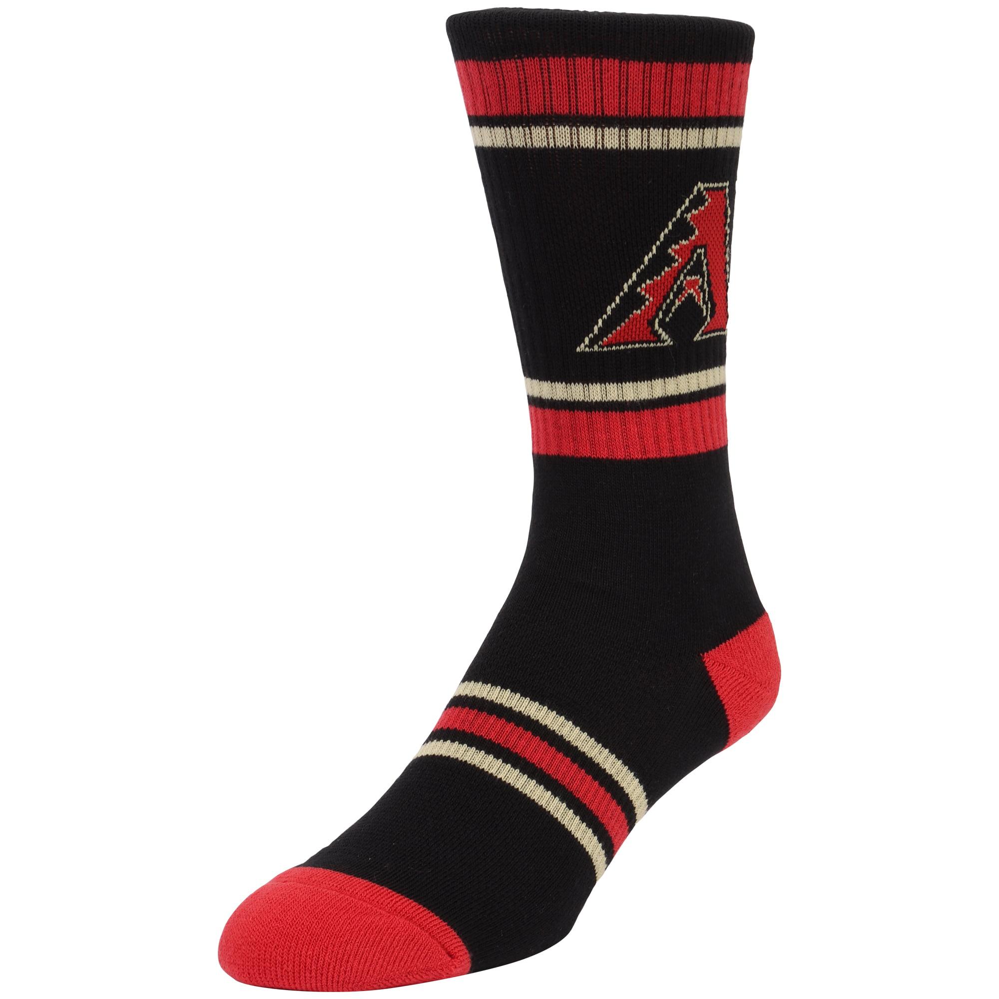 Arizona Diamondbacks Stripe Crew Socks - Black - L