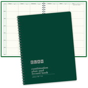"""Combination Plan and Record Book: One efficient 8-1/2"""" x 11"""" book for lesson plans and grades combines W101 and R1010 (PR7-10) (Green)"""