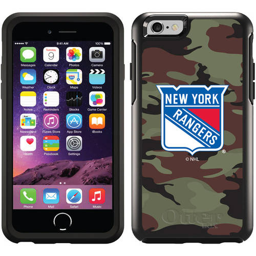 New York Rangers Traditional Camo Design on OtterBox Symmetry Series Case for Apple iPhone 6