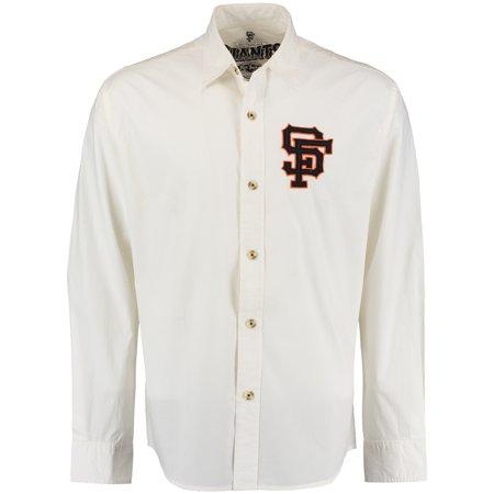 San Francisco Giants Red Jacket Knickerbocker Woven Long Sleeve Button-Up Shirt - Natural