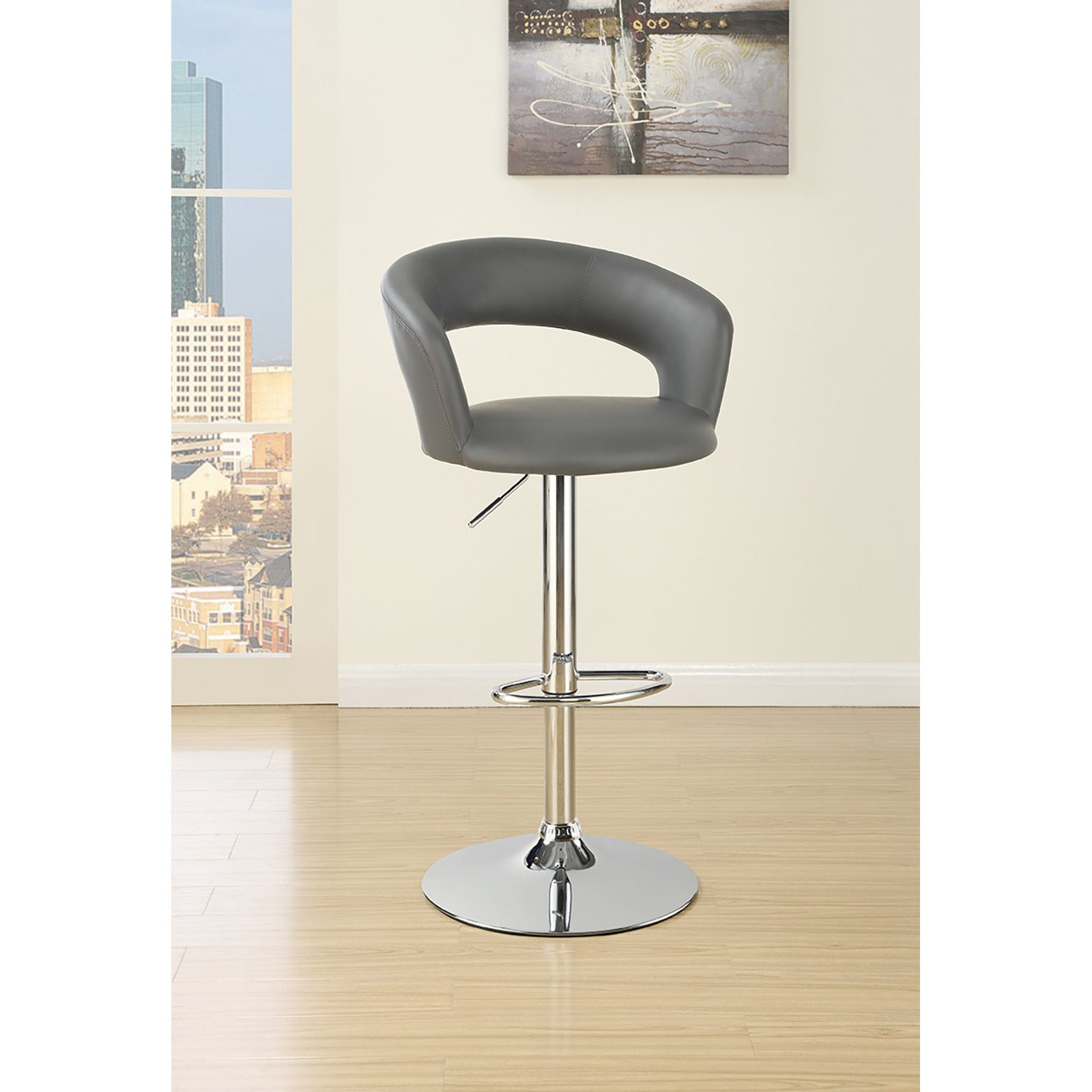 Coaster Furniture Gray 40 in. Adjustable Bar Stool
