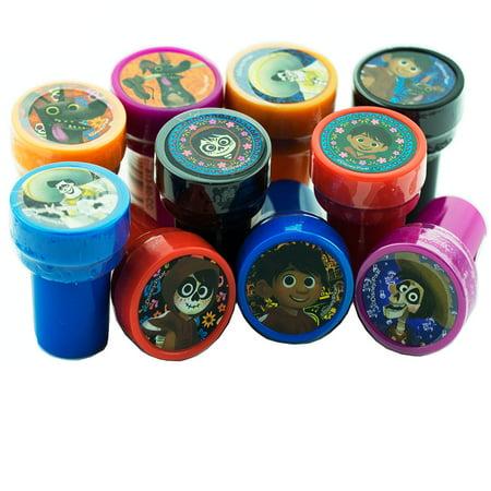 Disney Coco 12 Authentic Licensed Self Inking Stampers - Self Inking Stamper