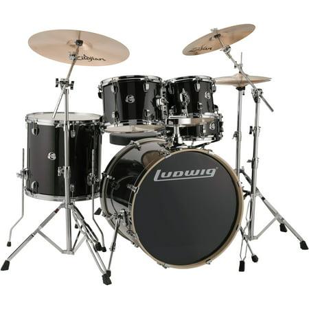 Drum Black Sparkle - Ludwig LCEE22016 Element Evolution 5-piece Drum Set - Black Sparkle Finish
