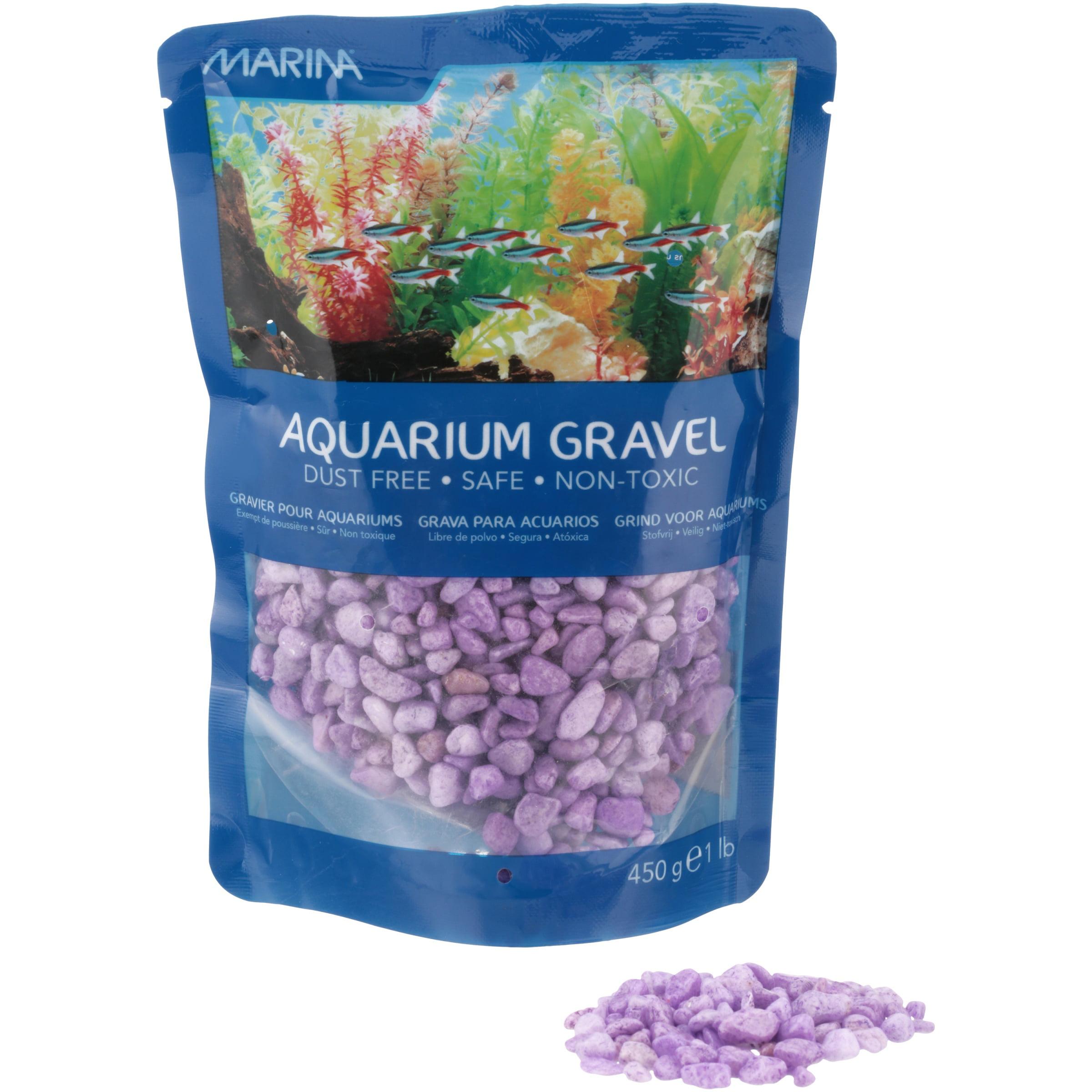 Marina Decorative Aquarium Gravel, Purple, 1-Pound Bag by Hagen