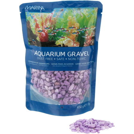 Saltwater Aquarium Gravel - (2 Pack) Marina Decorative Purple Aquarium Gravel, 1 lb