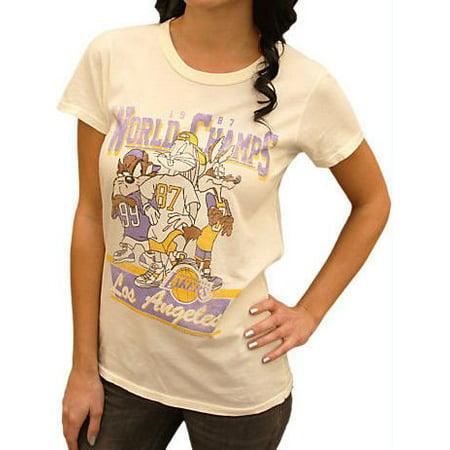 Los Angeles Lakers NBA Women s 1987 World Champions Looney Tunes T-shirt  (Large) - Walmart.com 9180bad1fe