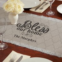 Generic Personalized Bless Our Home Table Runner
