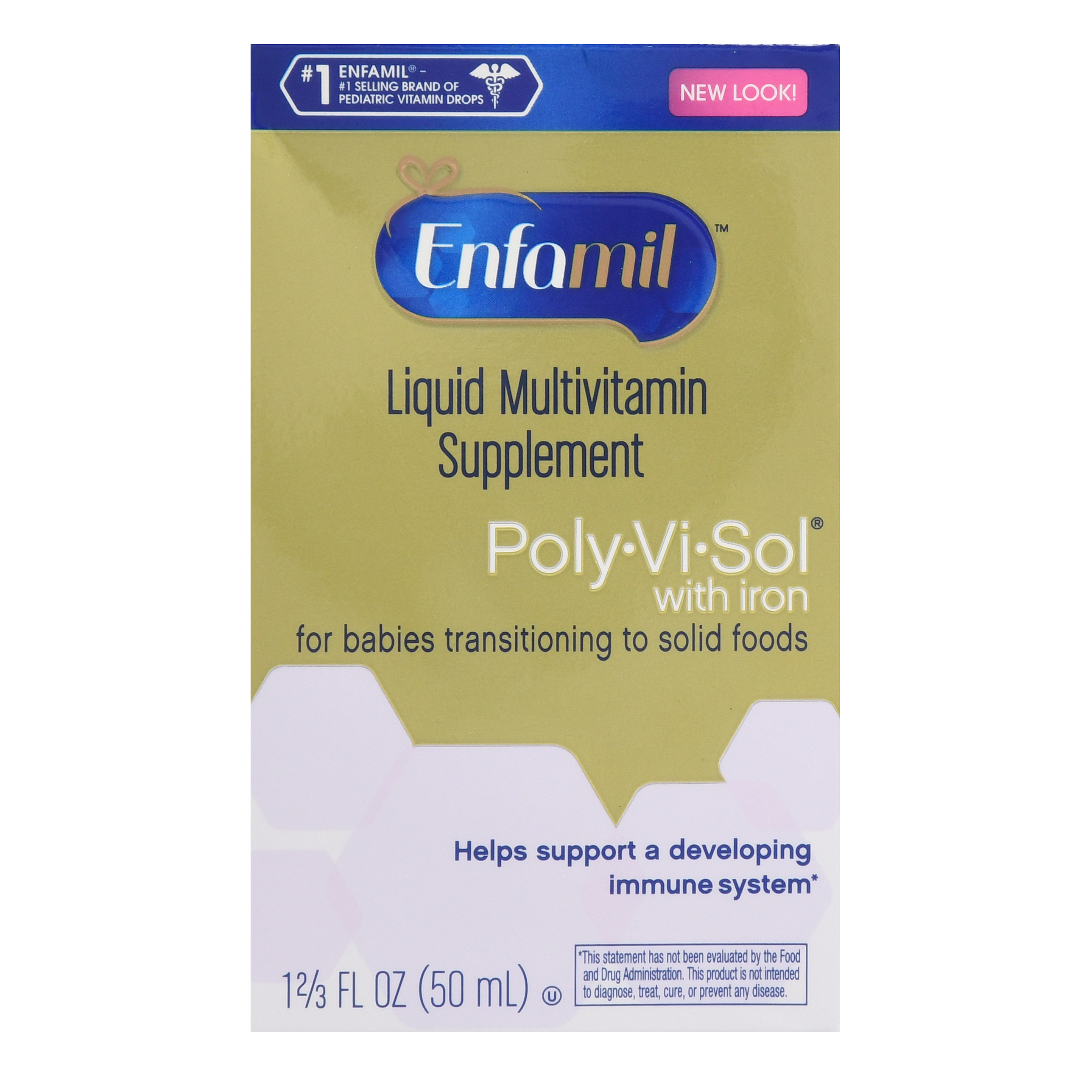 Enfamil Liquid Multivitamin Supplement Drops Poly-Vi-Sol With Iron, 50.0 ML