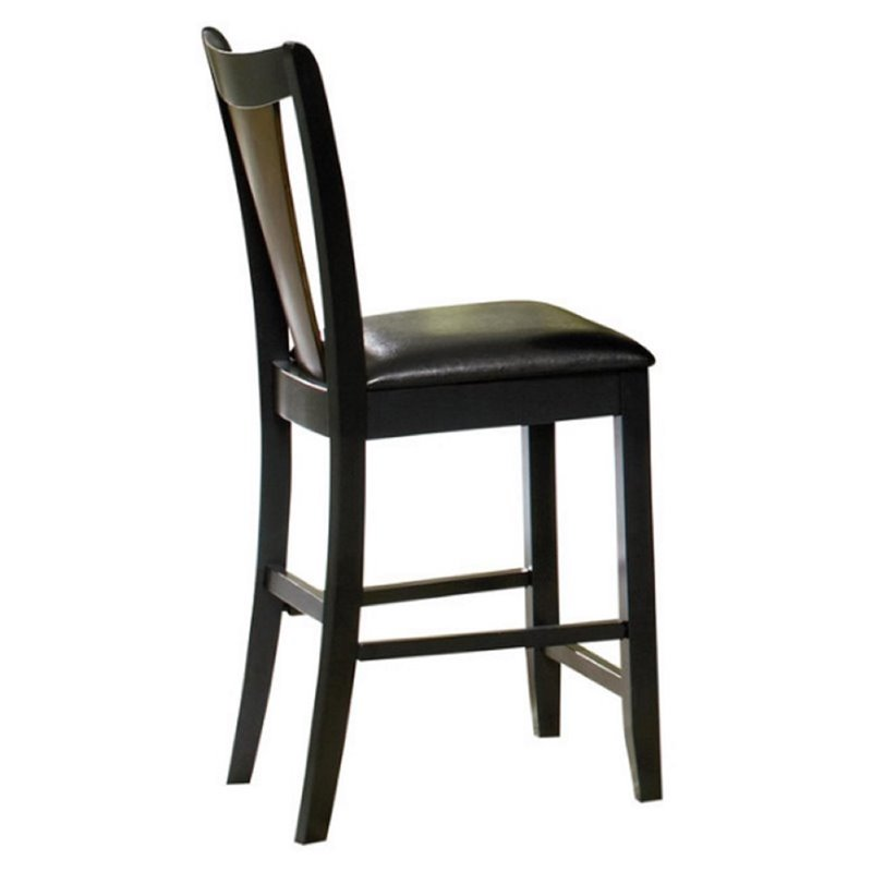 "Bowery Hill 24"" Counter Stool in Black and Cherry - image 1 of 3"