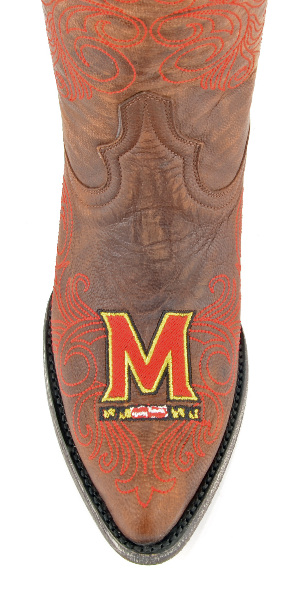 556e20691fa Gameday Boots Womens College Team Maryland Terps Brass Red MD-L158-1 -  Walmart.com