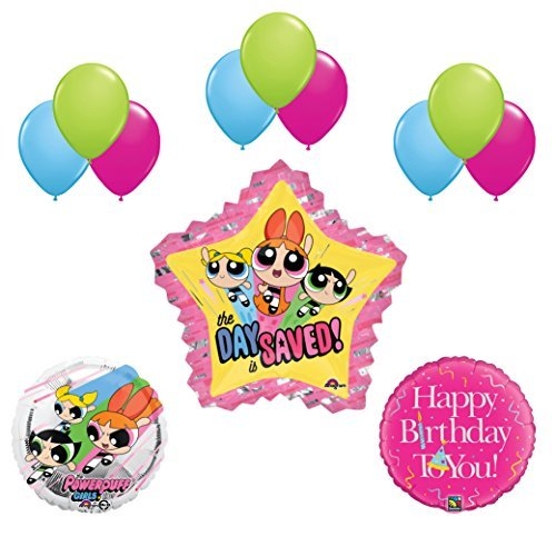 Powerpuff Girls 15pc Birthday Party Balloon Supplies and Decorations