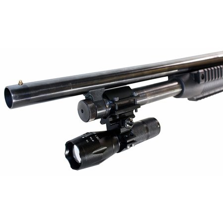 Trinity Rail - TRINITY 1000 Lumen Strobe Flashlight With Single Rail Mount For Maverick 88 Pump Shotgun.