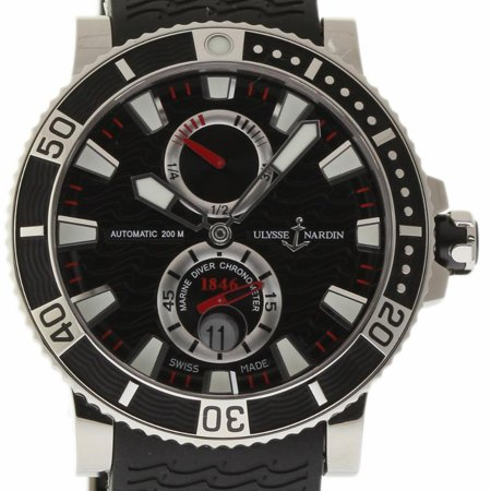 Pre-Owned Ulysse Nardin Maxi Marine 263-90-3 Titanium  Watch (Certified Authentic &