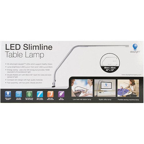 Led Slimline Table Lamp Walmart Com