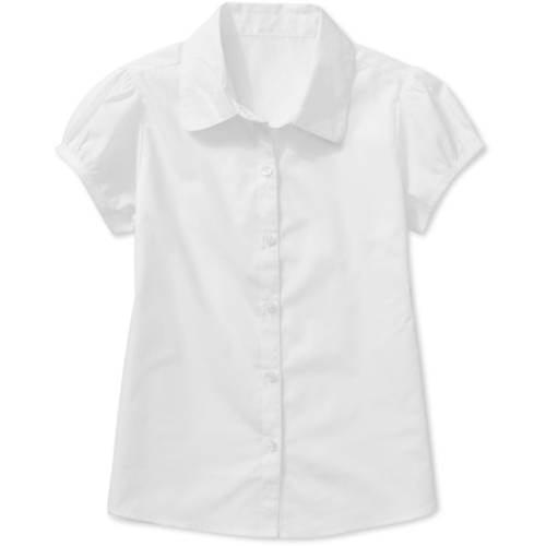 George Girls' Short Sleeve Poplin Blouse