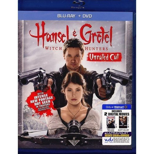 Hansel And Gretel: Witch Hunters (Rated/Extended) (Blu-ray + DVD + 2 Digital Movies) (Walmart Exclusive) (With INSTAWATCH) (Widescreen)