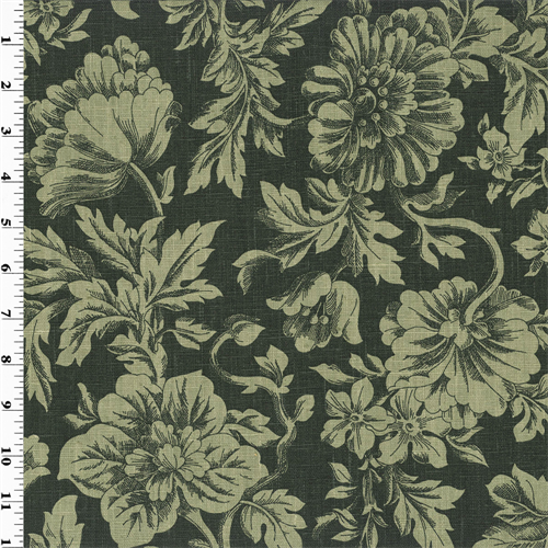fabric floral linen sage printed decorating fabrics print yard