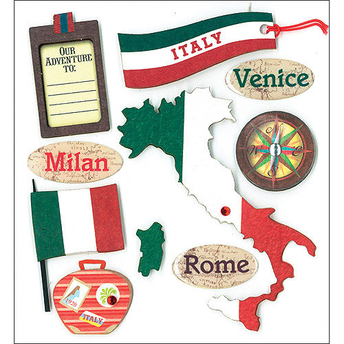 K&Company Italian Destination Dimensional Sticker   Dimensional Stickers