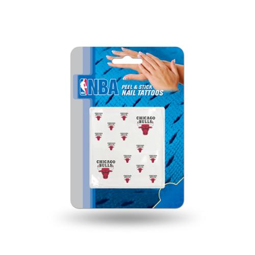 Chicago Bulls Official NBA 1 inch x 1 inch  Fingernail Tattoo Set by Rico Industries