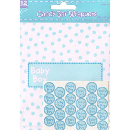 Baby Shower 'Baby Boy' Candy Bar Wrapper Kit (1ct)](Baby Boy Candy)