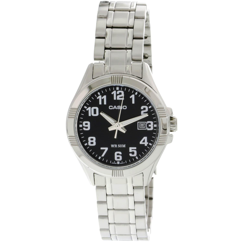 Casio Women's LTP1308D-1BV Black Stainless-Steel Quartz Fashion Watch - image 1 de 1