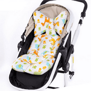 Infant Car Seat Cushion,Cotton Baby Stroller Liner Head and Body Support Pillow, Infant Seat Pad Carseat Neck Support Cushion