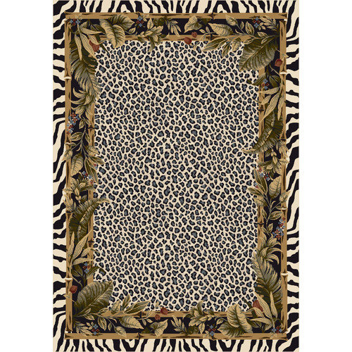 Milliken Signature Jungle Safari Snow Leopard Area Rug
