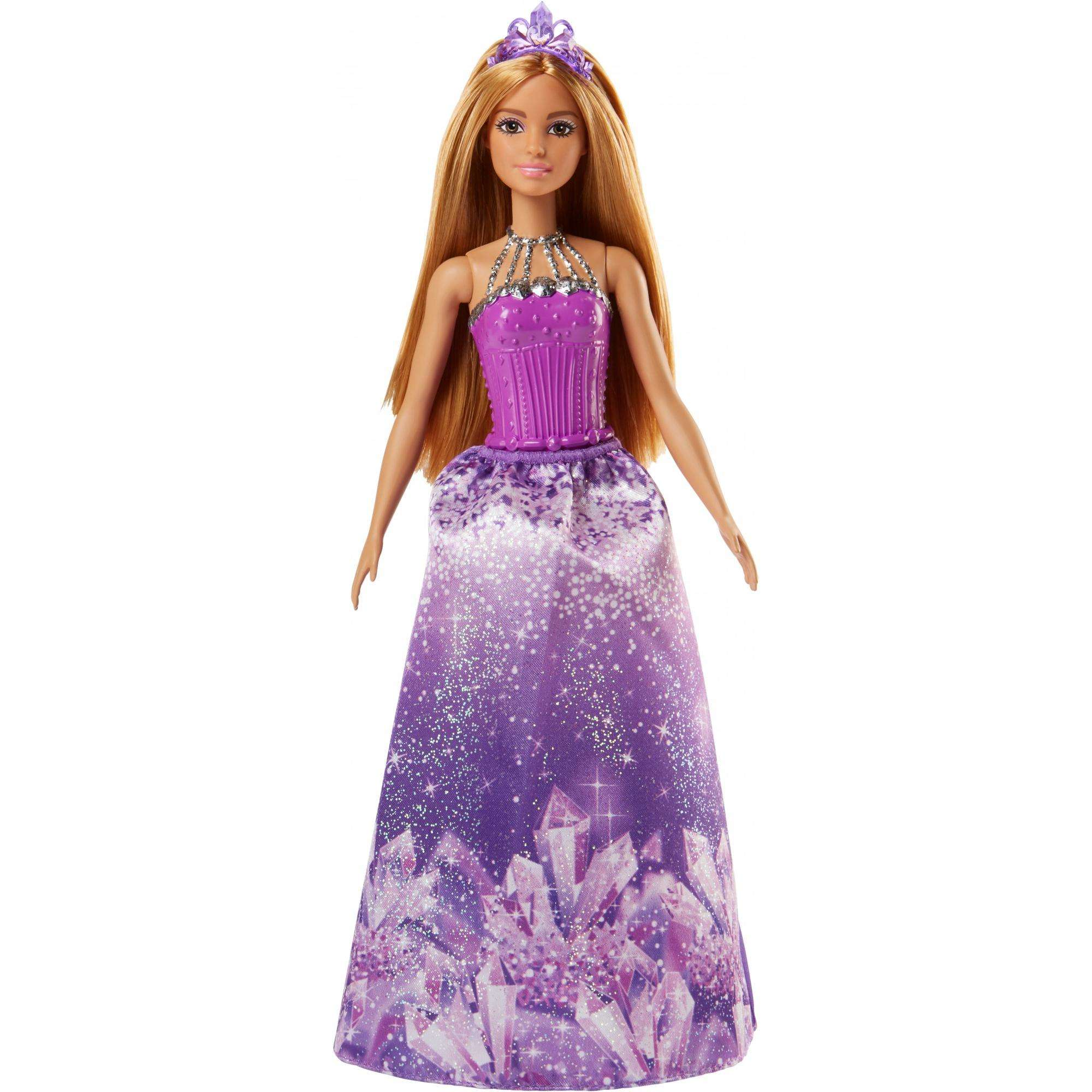 Barbie Dreamtopia Princess Doll with Purple Jewel-Themed Skirt
