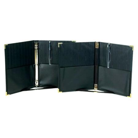 Marlo Plastics Premium Concert Choral Folder 9-1/4 x 12 with Elastic Stays, Pockets, Brass Corners, Pencil - -