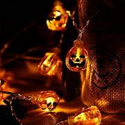 Decorations 20 LED 3D Pumpkin Halloween Lights, Warm White