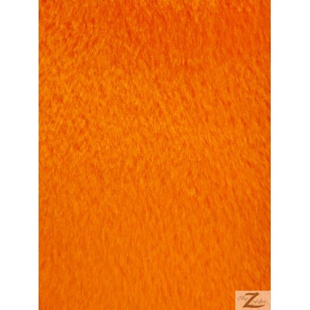 Velboa Faux Fake Fur Solid Short Pile Fabric / Orange / Sold By The Yard