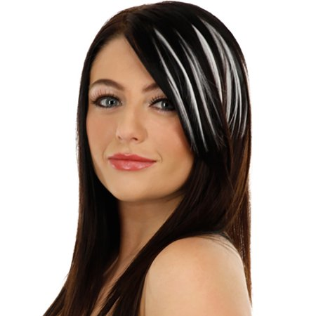 Pretty Girls Clip On Clip In Front Hair Bang Fringe Hair Extension Piece - Red White And Blue Hair Extensions