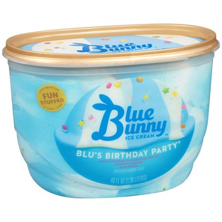 Blue Bunny Blus Birthday Party Ice Cream 46oz