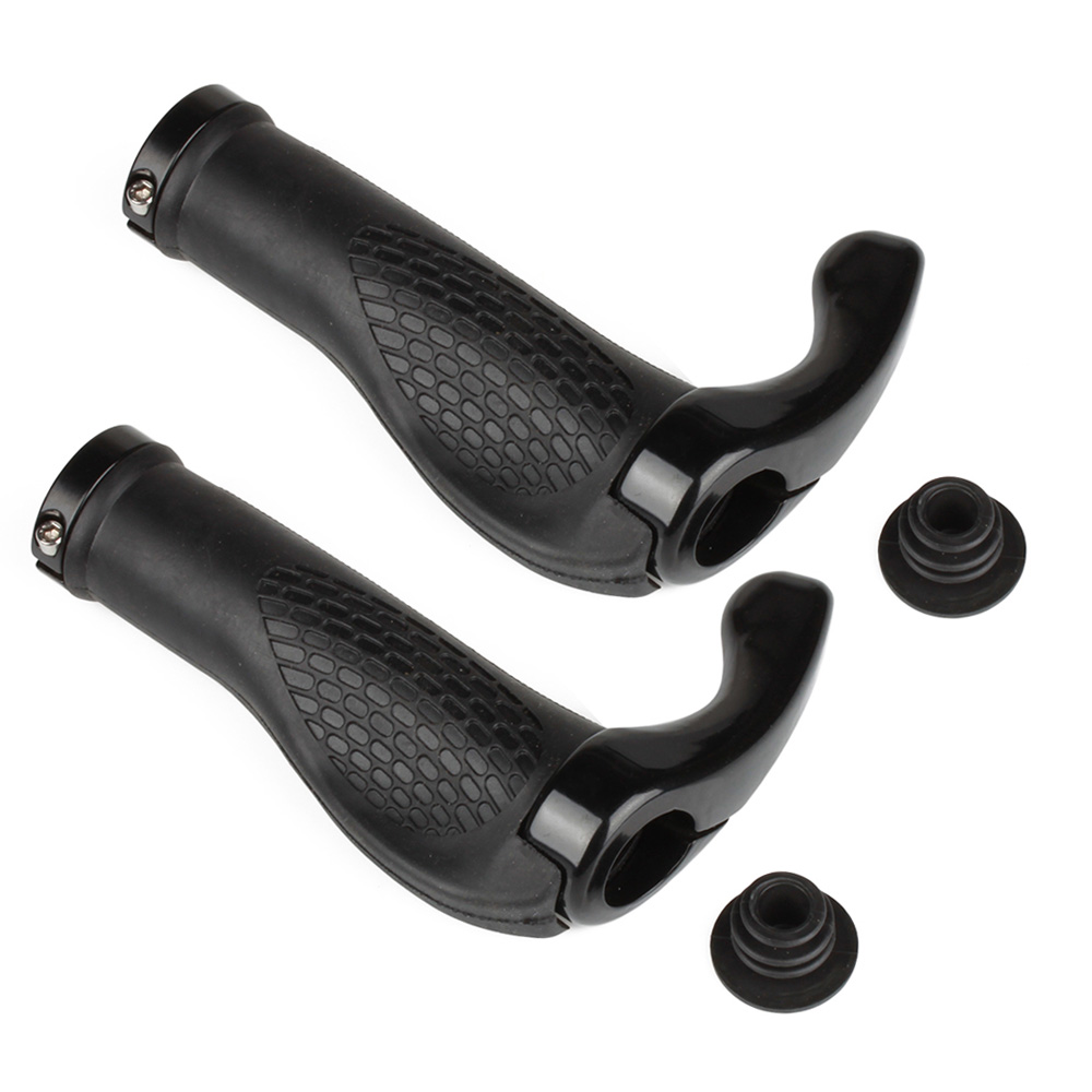 1 Pair Bicycle Handlebar Rubber Grips Durable Rubber Handlebar End Grips