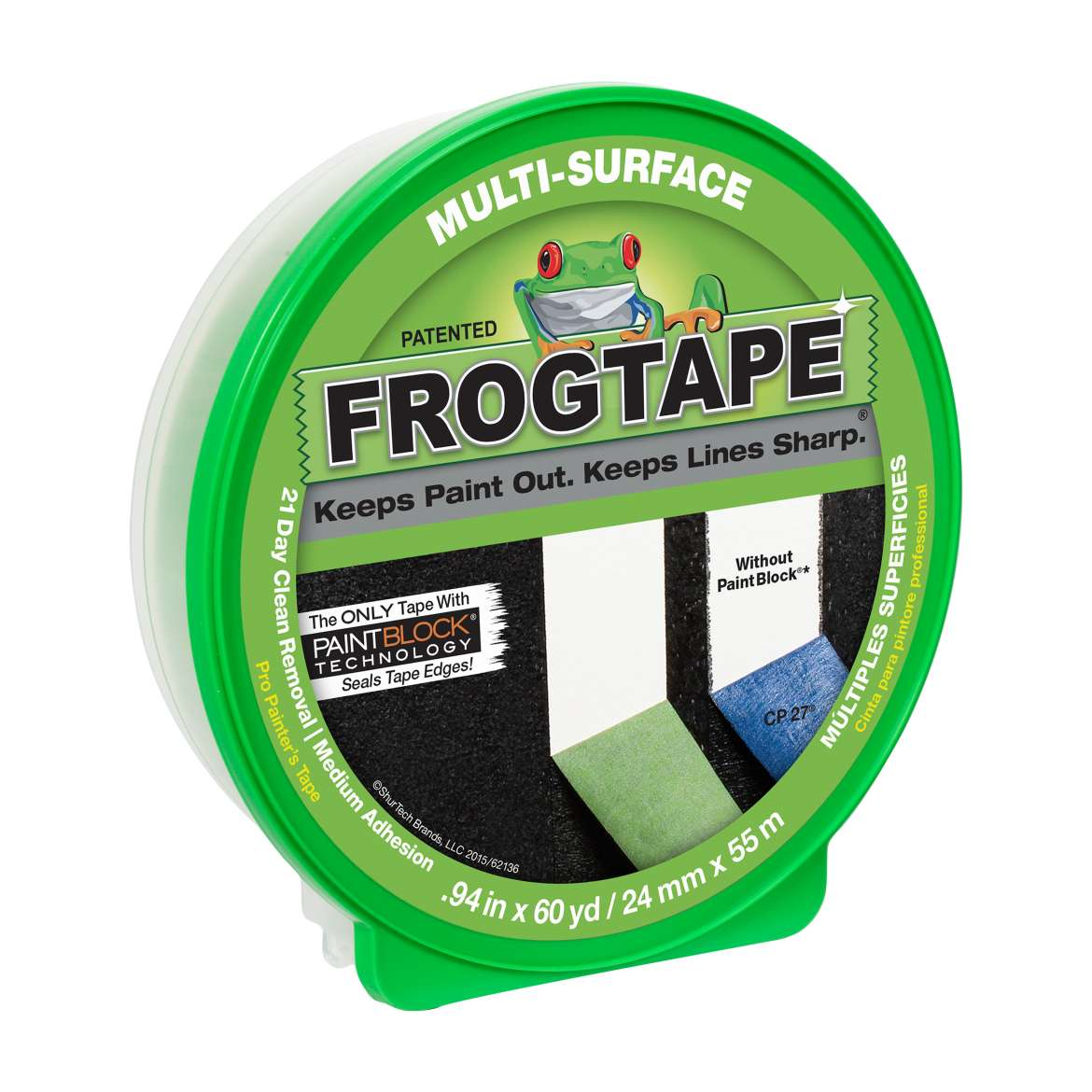 FrogTape Multi-Surface Painter's Tape, 0.94 in. x 60 yds.