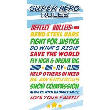 Superhero List Poster Print by Anna Quach