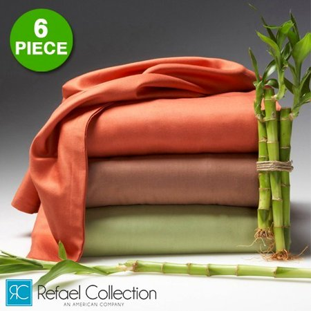6 Piece Set: The Original Best Bambooâ ¢ Hotel Lexington 2200 Series Organic Bed Sheets by RC Collection