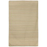 Liora Manne Sorrento Mini Stripe Khaki Brown/Tan Indoor/Outdoor Area Rug
